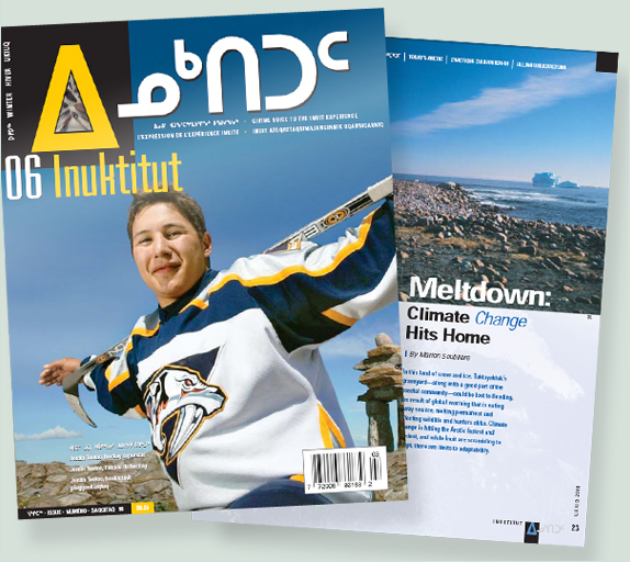 """Meltdown: Climate change hits home,"" Inuktitut magazine"